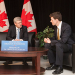 Andrew Bennett with PM Stephen Harper