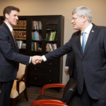 Andrew Bennett with PM Stephen Harper Pic 2