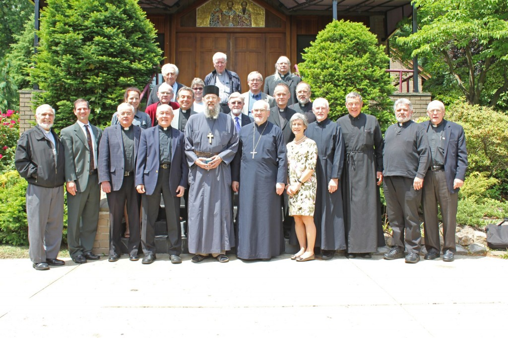 MASI Professor Fr Peter Galadza with the members of the North American Orthodox-Roman Catholic Dialogue