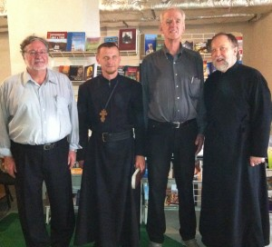 Dr Casanova, Fr Nicanor, Dr Taylor, and Fr Peter in Kyiv