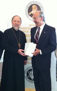 Fr Peter and Mr Temertey