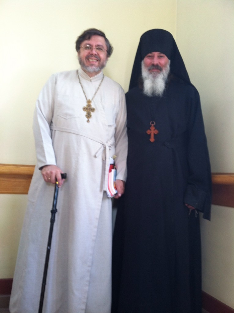 Fr Andriy with MASI alumnus hieromonk Theodosiy