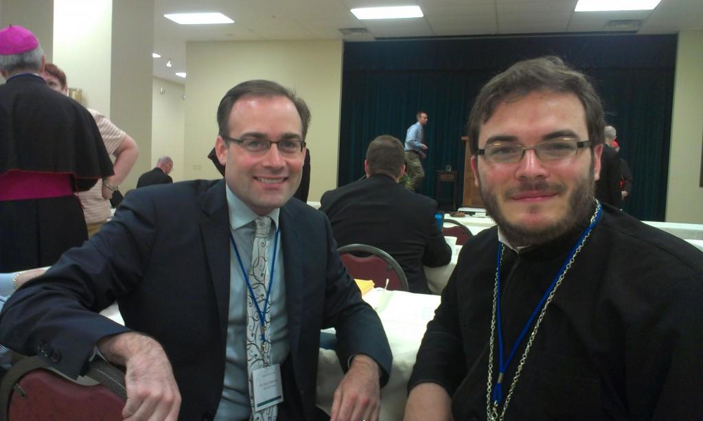 Fr Alexander with SPU Professor Chad Glendinning