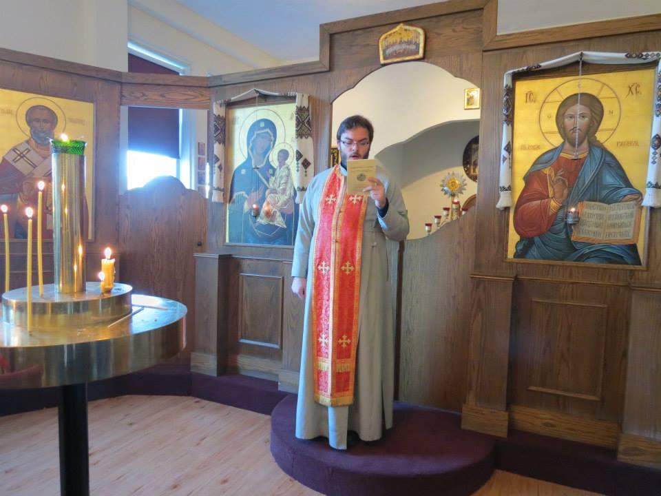 Fr Alexander leading vespers