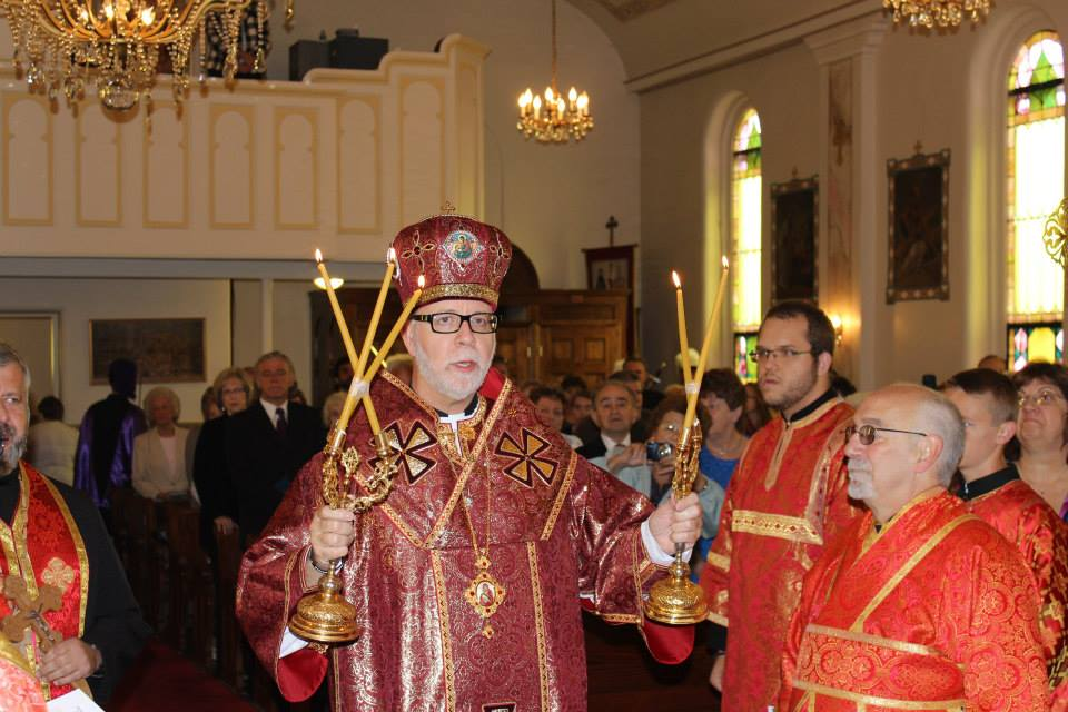 Bishop Paul celebrating the Divine Liturgy