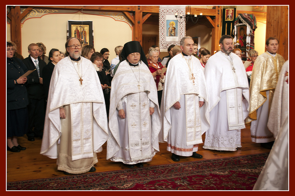 Fr Peter with concelebrating clergy