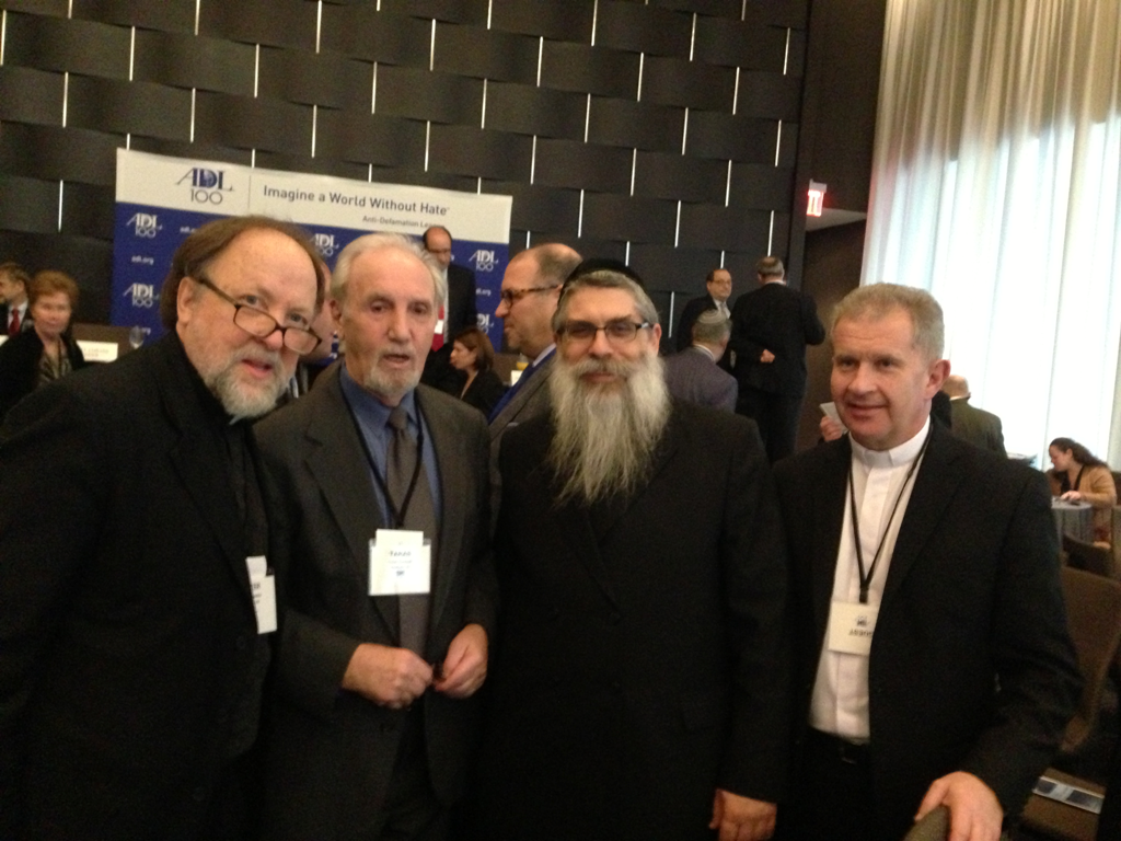 Pictured from left to right at the luncheon sponsored by the ADL: Fr. Peter Galadza; Dr. Taras Hunchak, emeritus professor of history at Rutgers University; Rabbi Yaakov Dov Bleich, Chief Rabbi of Ukraine; and Fr. Bohdan Prach, newly appointed rector of the Ukrainian Catholic University.