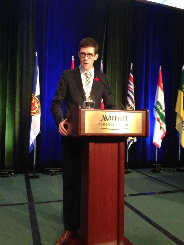 On November 8, the Canadian Ambassador of the Office of Religious Freedom, His Excellency Andrew Bennett, PhD, delivered a plenary address at the Twenty-fourth Triennial Congress of the Ukrainian Canadian Congress in Toronto. Dr. Bennett spoke on the importance of guaranteeing religious freedom throughout the world, including the former USSR. A former student of the Sheptytsky Institute and former member of the Sheptytsky Institute Foundation, Dr. Bennett mentioned the Institute three times in his address. He noted what an important centre it is for disseminating knowledge concerning religion in Eastern Christian lands. Dr. Bennett became a member of the Ukrainian Greco-Catholic Church ten years ago, and serves as the subdeacon and cantor at the Eastern Catholic Chaplaincy, a ministry of the Sheptytsky Institute.