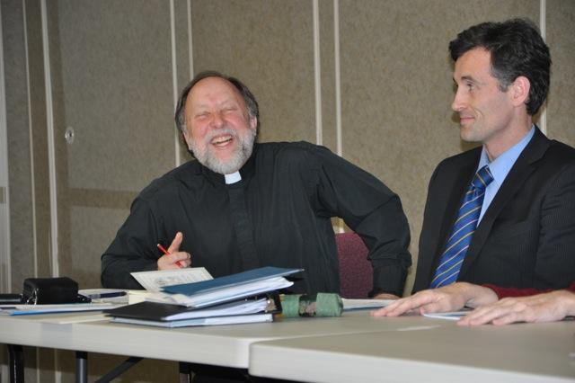 Fr Peter delivering his paper