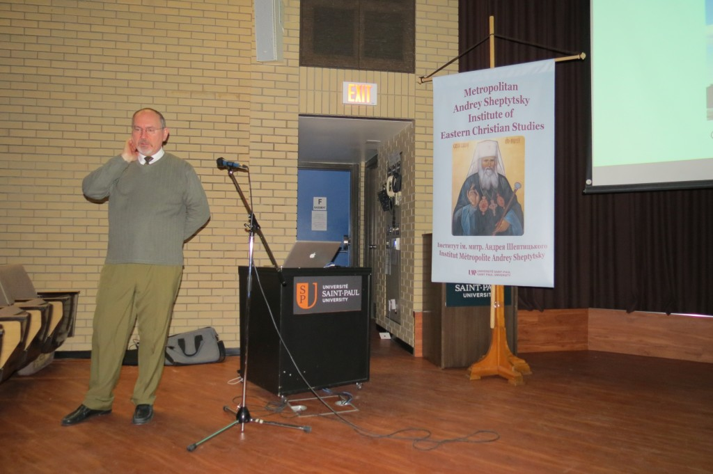 Mr Demchinsky giving his lecture