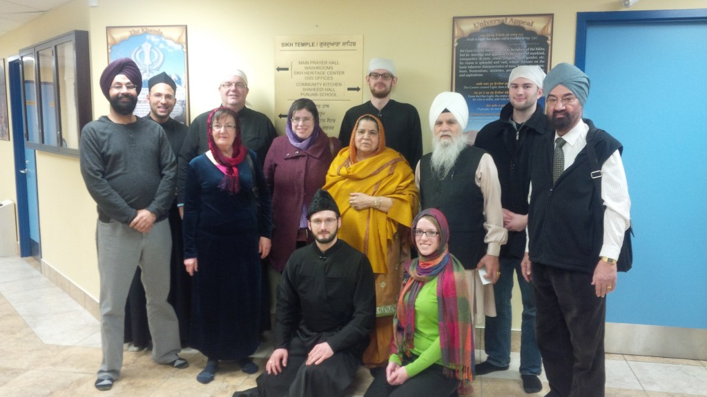 Subdeacon Dr Brian, his students, and members of Ottawa's Sikh community